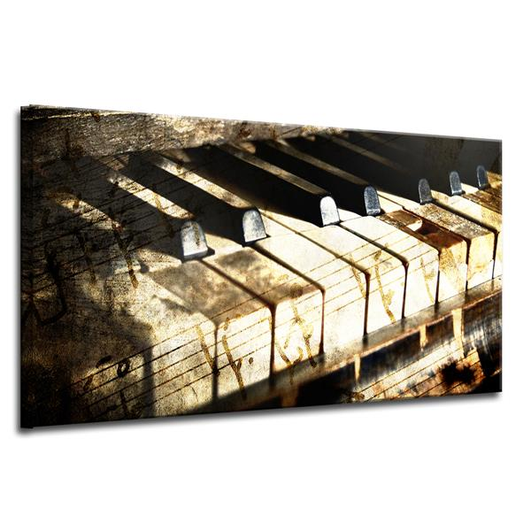 "Ivory Keys Canvas Wall Décor - 40"" - Brown"