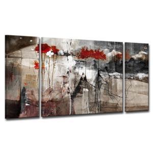 Ensemble de toiles, abstrait, 60