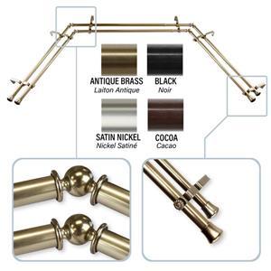 Bay Window Curtain Rod - Stainless Steel - Brass