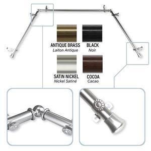 Rod Desyne Bay Window Curtain Rod - 0.81-in - Stainless Steel