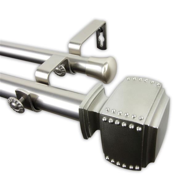 Rod Desyne Poise Double Curtain Rod 28-48 Satin Nickel