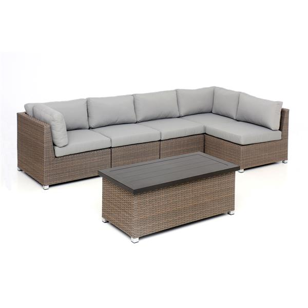 Think Patio Chambers Bay Patio Conversation Set - Grey - 6-piece