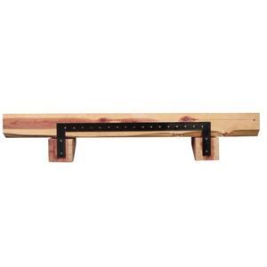 """Tablette de cheminée Cedar, 60"""", bois, brun"""