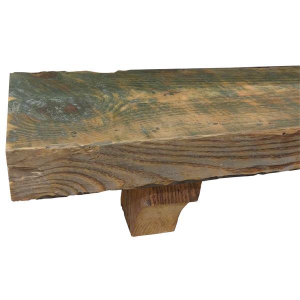 "Reclaimed Pine Mantel Shelf - 60"" - Wood - Brown"