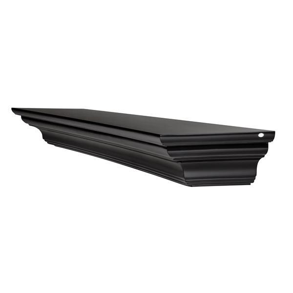 "Crestwood Mantel Shelf - 72"" - MDF - Black"