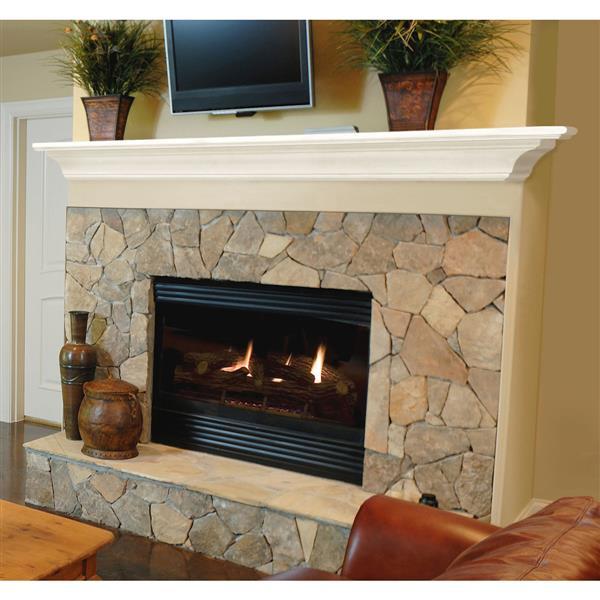 "Crestwood Mantel Shelf - 72"" - MDF - White"