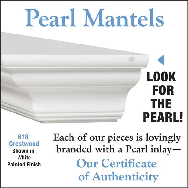 Pearl Mantels Crestwood Mantel Shelf - 60-in - MDF - White