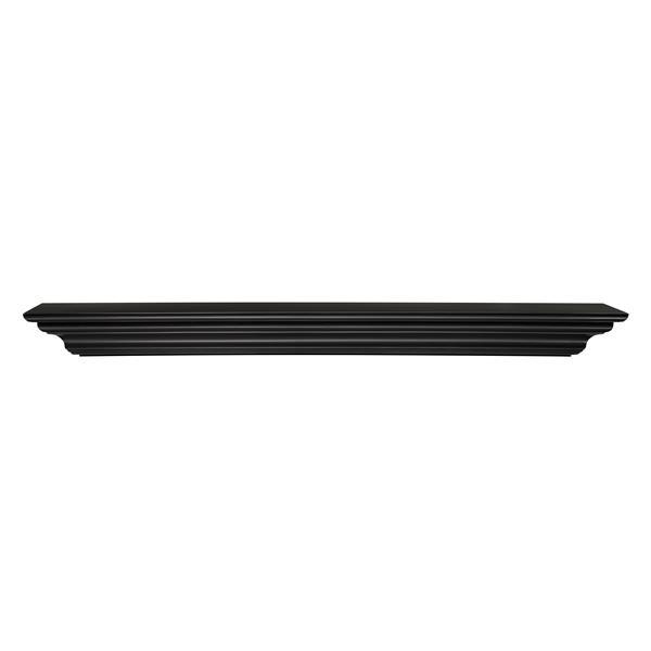 Pearl Mantels Crestwood Mantel Shelf - 48-in - MDF - Black
