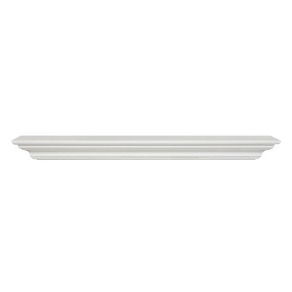 Pearl Mantels Crestwood Mantel Shelf - 48-in - MDF - White