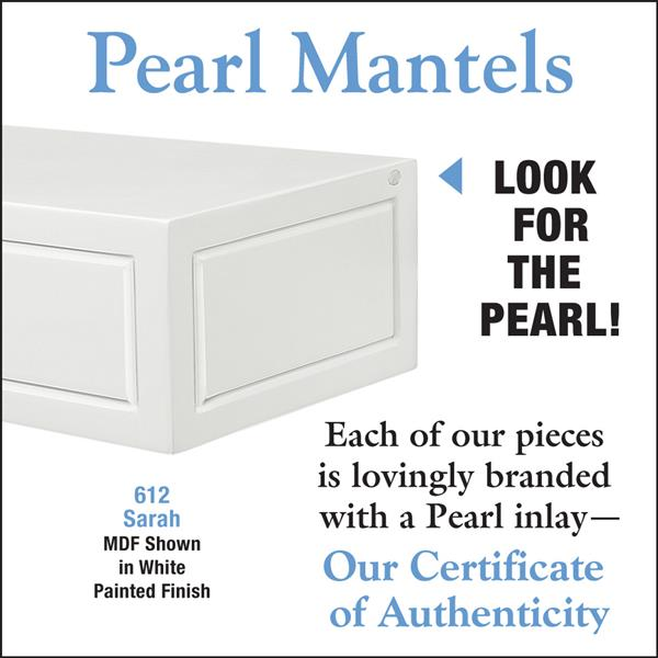 Pearl Mantels Sarah Mantel Shelf - 72-in - MDF - White