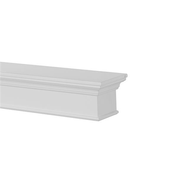 Pearl Mantels Henry Mantel Shelf - 60-in - MDF - White