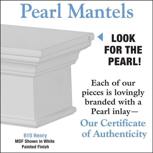 """Henry Mantel Shelf - 48"""" - MDF - White"""