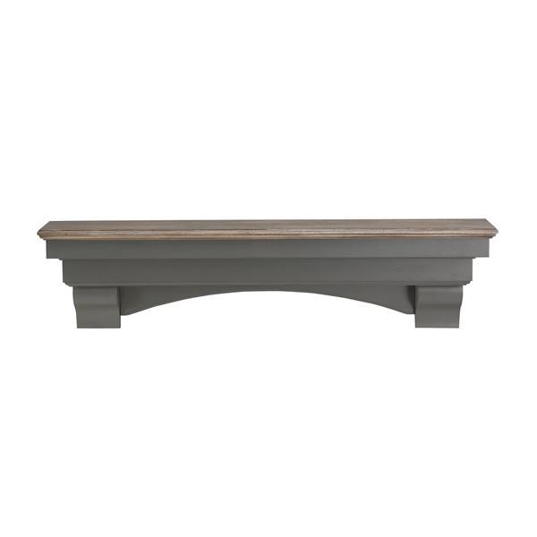 Pearl Mantels Hadley Mantel Shelf - 48-in - Wood - Gray