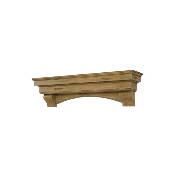 Pearl Mantels Celeste Mantel Shelf - 60-in - Wood - Brown