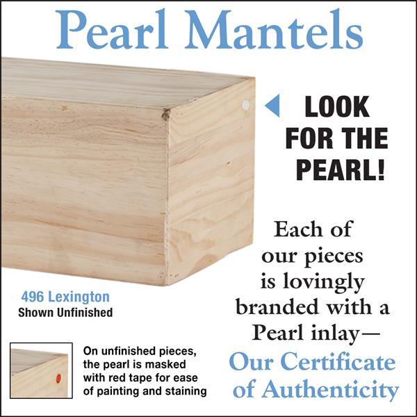 Pearl Mantels Lexington Mantel Shelf - 72-in - Wood - Natural