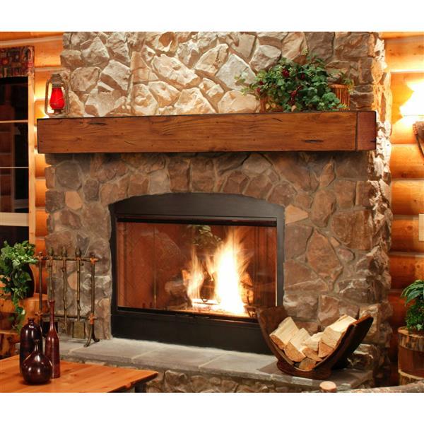 """Tablette de cheminée Lexington, 60"""", bois, brun"""