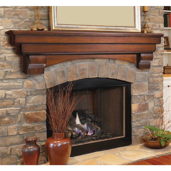 """Tablette de cheminée Auburn, 60"""", bois, naturel"""