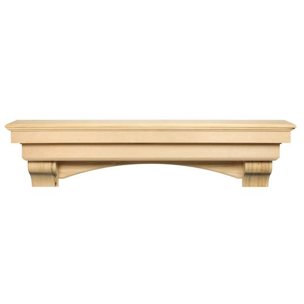 Pearl Mantels Auburn Mantel Shelf - 60-in - Wood - Natural