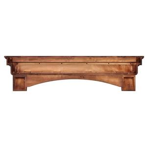 """Tablette de cheminée Auburn, 60"""", bois, brun"""