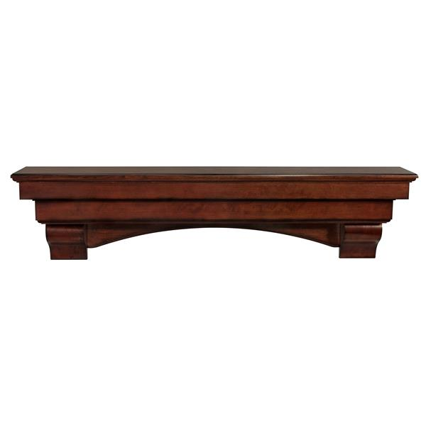 Pearl Mantels Auburn Mantel Shelf - 48-in - Wood - Brown