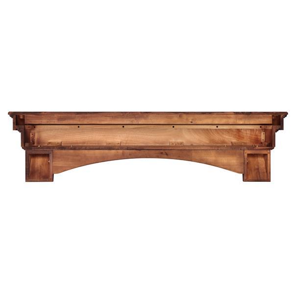 """Tablette de cheminée Auburn, 48"""", bois, brun"""