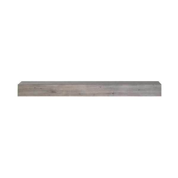 Pearl Mantels Acacia Mantel Shelf - 72-in - Wood - Gray