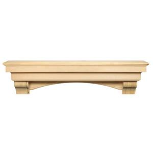 Pearl Mantels Auburn Mantel Shelf - 48-in - Wood - Natural