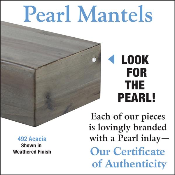 Pearl Mantels Acacia Mantel Shelf - 60-in - Wood - Gray