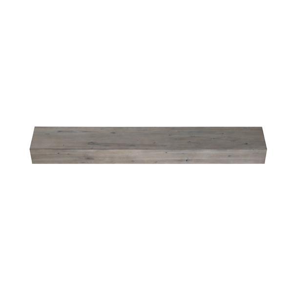 """Tablette de cheminée Acacia, 60"""", bois, gris"""