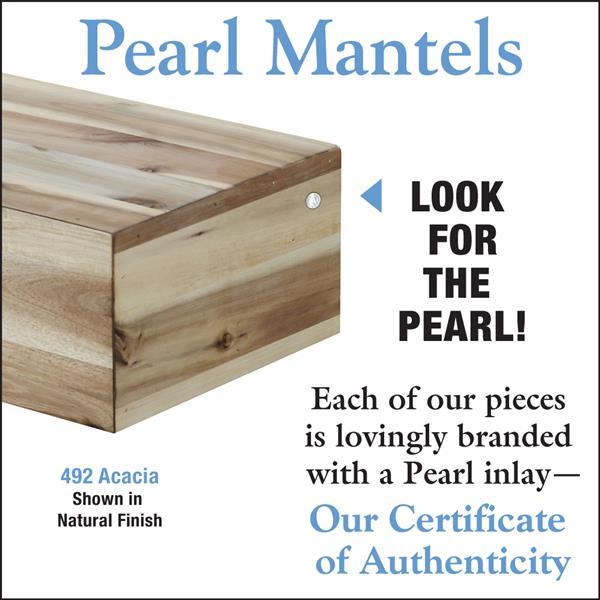 Pearl Mantels Acacia Mantel Shelf - 72-in - Wood - Natural