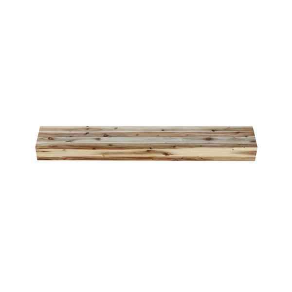 """Tablette de cheminée Acacia, 48"""", bois, naturel"""