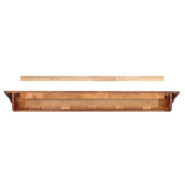 "Lindon Mantel Shelf - 72"" - Wood - Brown"