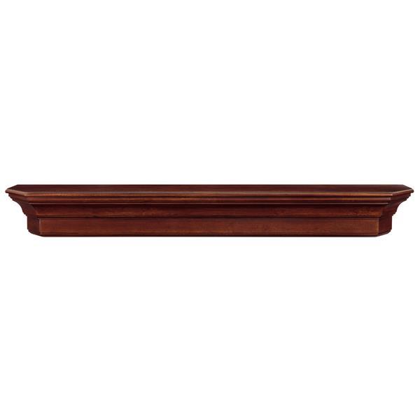 """Tablette de cheminée Lindon, 48"""", bois, brun"""