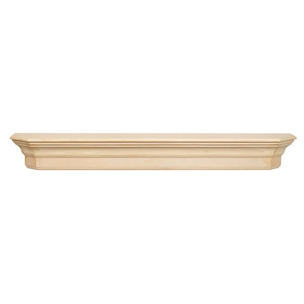 Pearl Mantels Lindon Mantel Shelf - 60-in - Wood - Natural