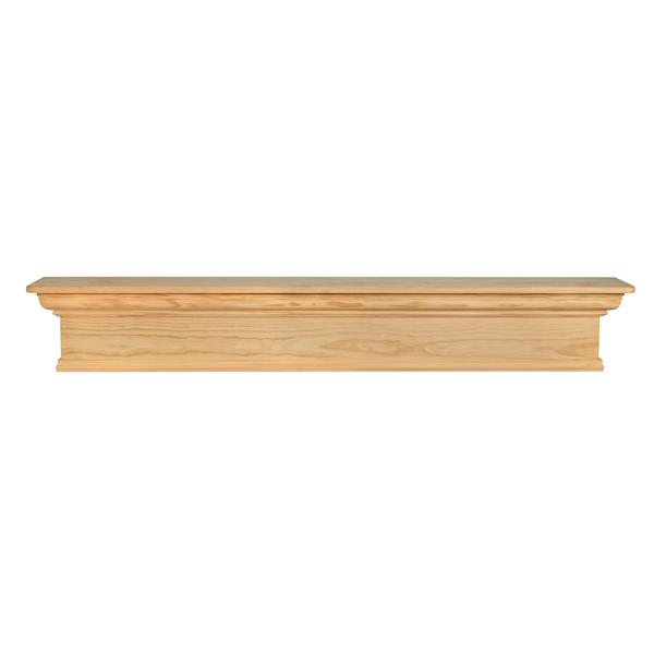 Pearl Mantels Savannah Mantel Shelf - 72-in - Wood - Natural