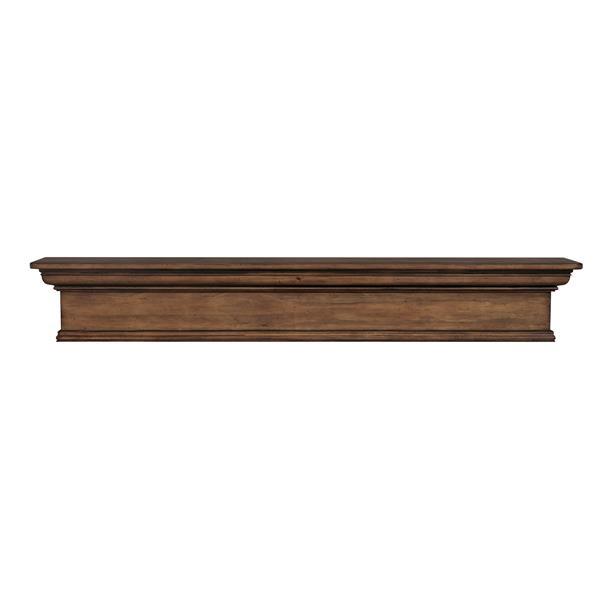 """Tablette de cheminée Savannah, 72"""", bois, brun"""