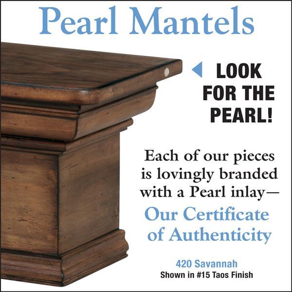 Pearl Mantels Savannah Mantel Shelf - 60-in - Wood - Brown