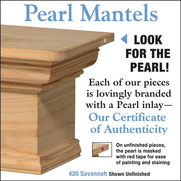 Pearl Mantels Savannah Mantel Shelf - 60-in - Wood - Natural