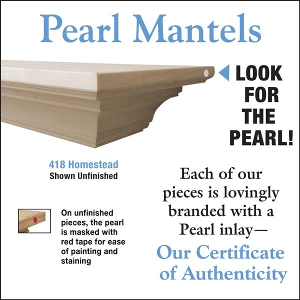 Pearl Mantels Homestead Mantel Shelf - 72-in - Wood - Natural