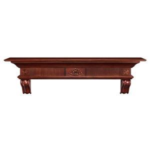 Pearl Mantels Devonshire Mantel Shelf - 60-in - Wood - Brown