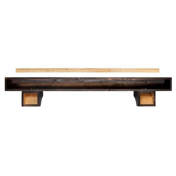 Pearl Mantels Shenandoah Mantel Shelf - 72-in - Wood - Espresso