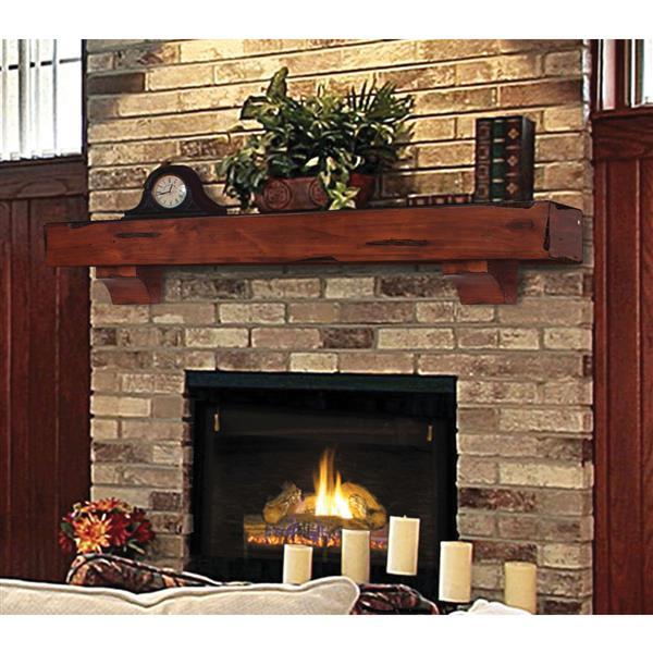 """Tablette de cheminée Shenandoah, 60"""", bois, cerise"""