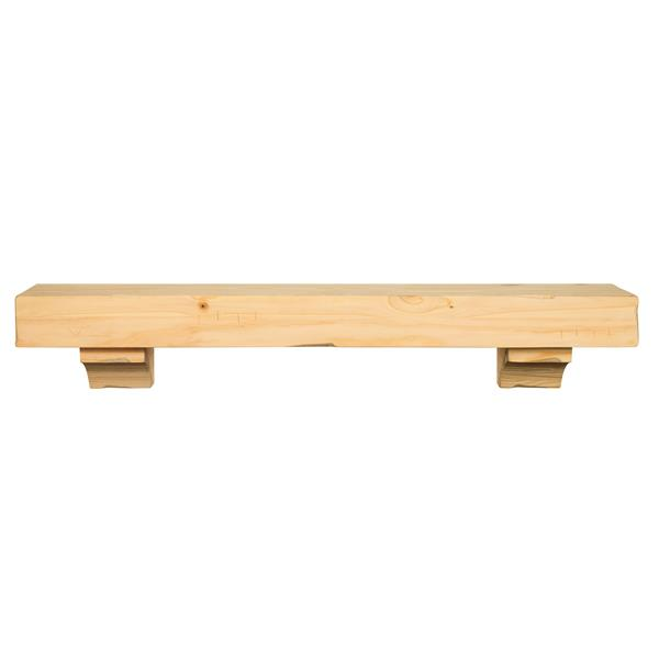 Pearl Mantels Shenandoah Mantel Shelf - 72-in - Wood - Natural