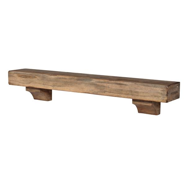 Pearl Mantels Shenandoah Mantel Shelf - 60-in - Wood - Brown