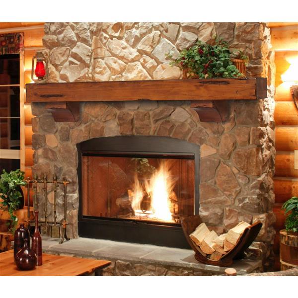 "Shenandoah Mantel Shelf - 60"" - Wood - Natural"