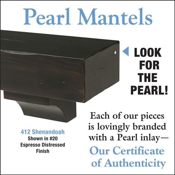 """Tablette de cheminée Shenandoah, 48"""", bois, espresso"""