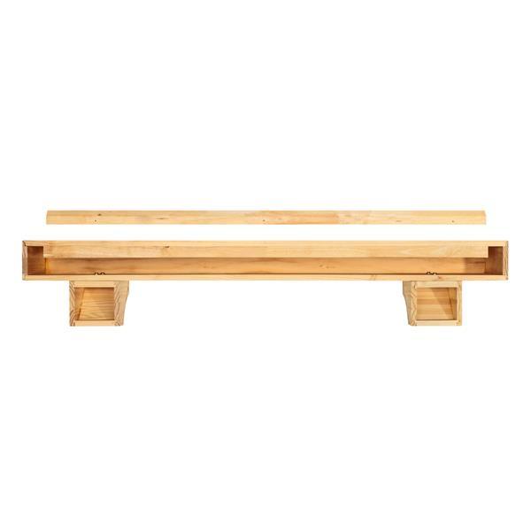 Pearl Mantels Shenandoah Mantel Shelf - 48-in - Wood - Natural
