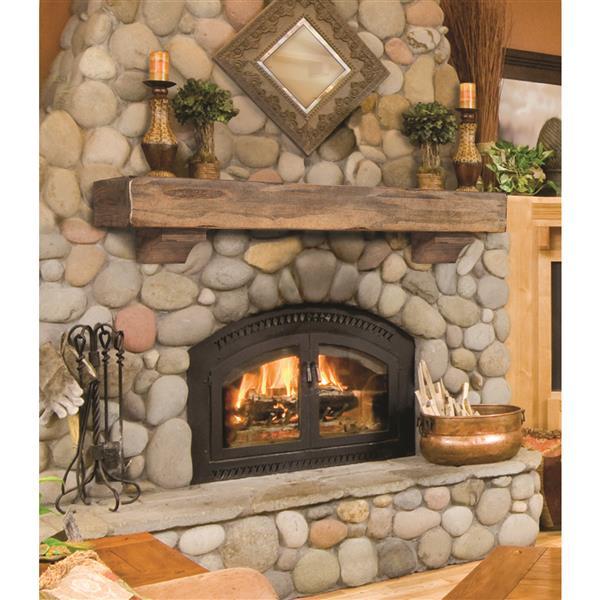 """Tablette de cheminée Shenandoah, 48"""", bois, brun"""