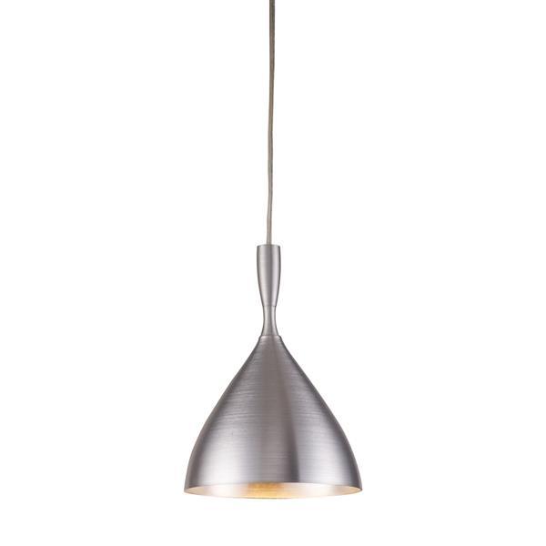 ELK Lighting Spun Aluminum Pendant Light - 1-Light - Aluminum