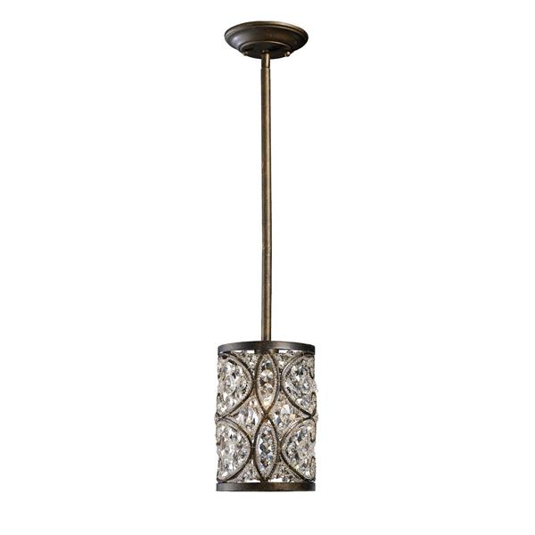 ELK Lighting Amherst Mini Pendant Light - 1-Light - Antique Bronze